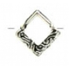 SS.925 Bead Frame Diamond Fancy 15mm